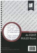 Standard A5 Feint Ruled Spiral Notebook